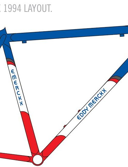 A diagram of the Condor Merckx bike for the painters