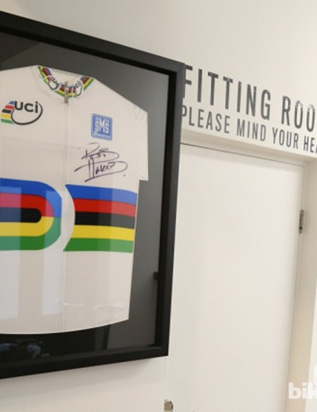 If you've a World Champion in your midsts, it'd be rude not to have a signed jersey