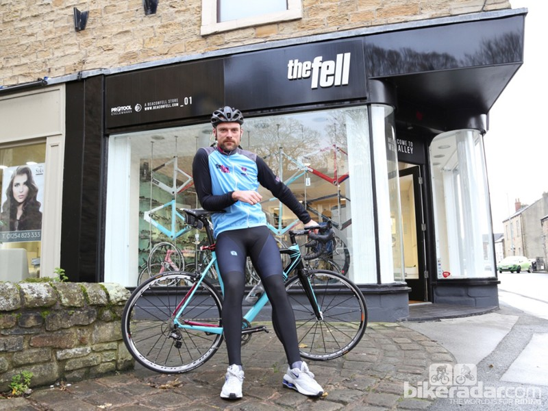 Rob Hayles, World Champion winner, Olympic medalist and now key to the Beacon range of bikes, outside The Fell