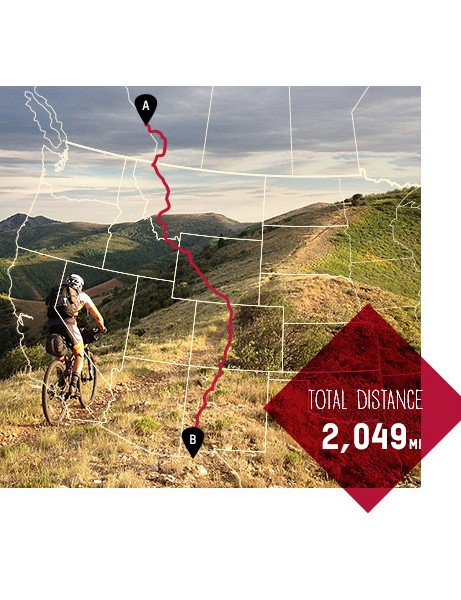 The Great Divide route showcases some of the most magnificent scenery in the entire Rocky Mountain chain. The route begins in Banff, Canada, and runs along the Rocky Mountains all the way to Antelope Wells, New Mexico