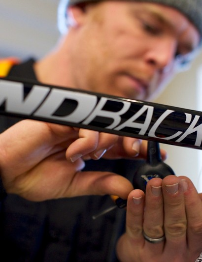 The new Diamondback Podium Equipe carbon frame features internal routing