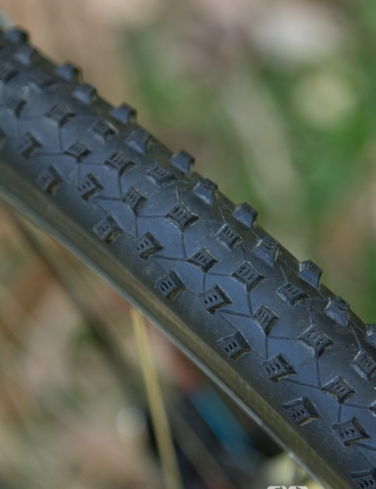 Schwalbe Rocket Ron tyres were chosen for decent all-round dependability
