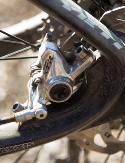 Graves is still on the older XR 985 Race brakes