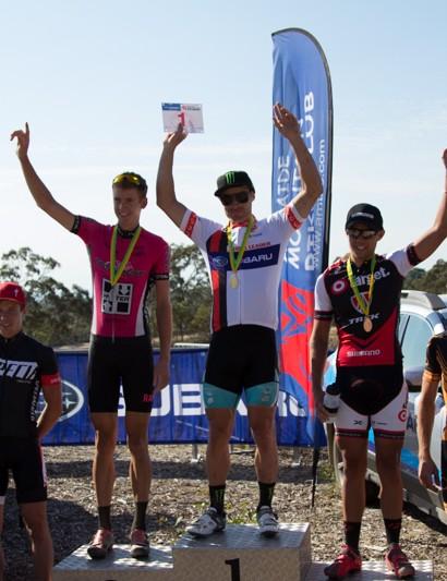 The elite men's podium