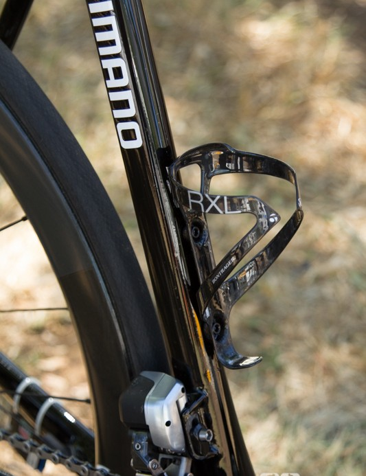 Bontrager supplies the bottle cages - Voigt is seen using the second-tier RXL cage, something that is meant to hold the bottle better than the lighter XXX cage