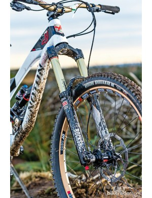 The RockShox Lyrik fork is an impression choice for a bike of this price