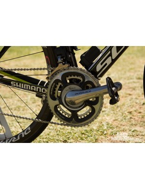 The old faithful 7800 SRM crankset - nearly a decade old and still worthy of a champ