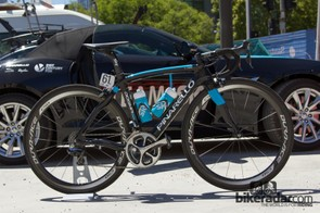 Richie Porte's Pinarello Dogma2 65.1 - ready to begin the 2014 season