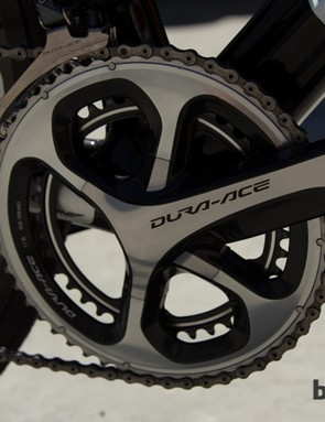 With the change to Stages Cycling - the crank is now a standard Dura-ace 9000 model