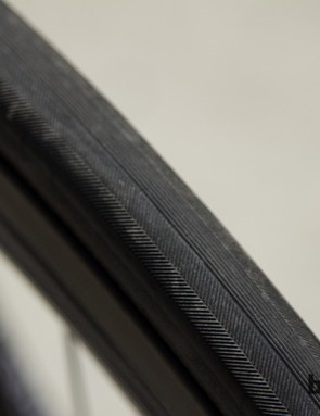 Veloflex supply the tyres in 23c size - this tread pattern appears quick and full of grip
