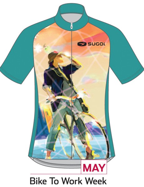 Sugoi Jersey of the Month program: the May jersey supports Bike to Work Week (women's version)