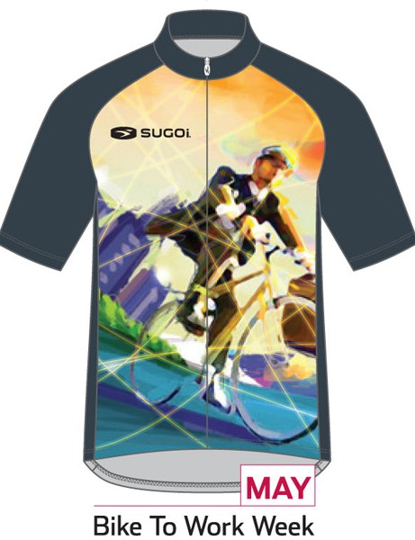 Sugoi Jersey of the Month program: the May jersey supports Bike to Work Week (men's version)