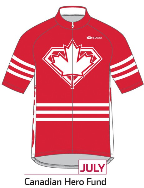 Sugoi Jersey of the Month program: the July jersey supports the Canadian Hero Fund (Canada)