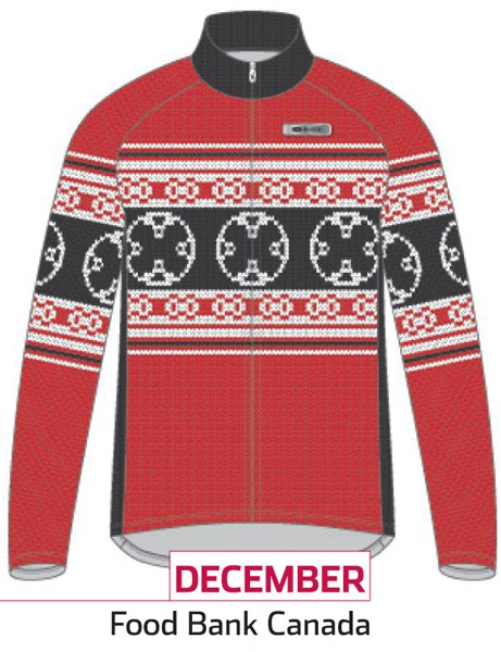 Sugoi Jersey of the Month program: the December jersey supports Food Bank Canada