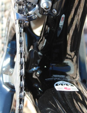 The Domane Classics Edition has an integrated chain catcher