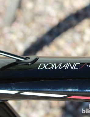 The Domane Classics Edition features a short head tube (143mm on this 58cm frame, for example) and a steeper front end than the standard Domane