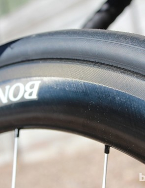 Bontrager's top-end carbon clinchers, the Aeolus D3, come in several rim depths. These are the 5s, for the 50mm rim