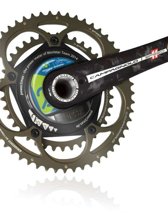 The Power2Max Type S meter was developed with help from Campagnolo and Movistar