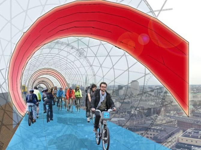 SkyCycle, il progetto della città di Londra per le ciclabili del futuro