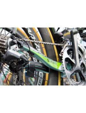 Team Belkin made the move to Bianchi bicycles - the mix of green and Bianchi's Celeste seems to divide opinion