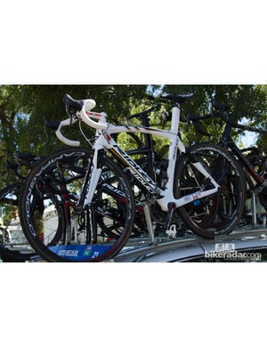 German Champion André Greipel of Lotto-Belisol had a few bikes at the race. He finished in second place to Simon Gerrans on Stage 1 with this custom painted Ridley Noah Fast