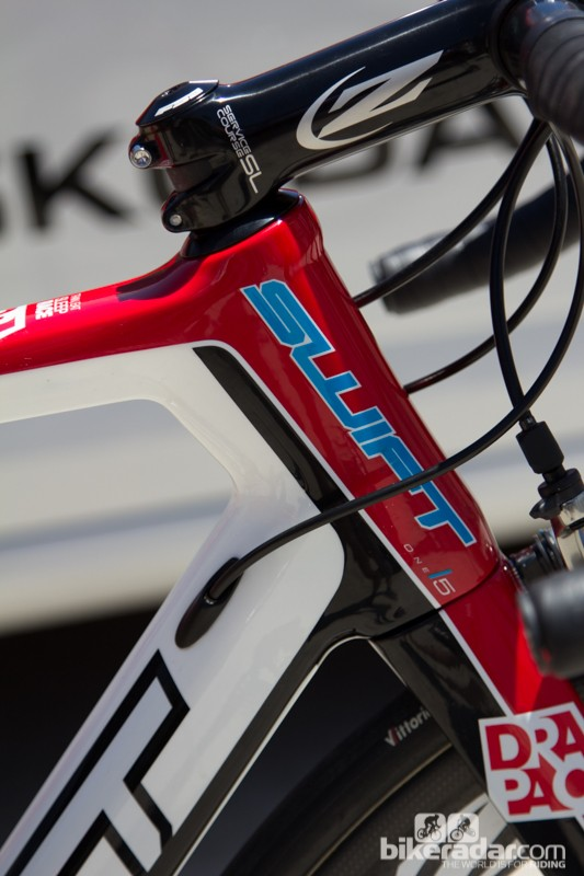An oversized headtube on the Ultravox Ti ensures ultimate stiffness at the front end