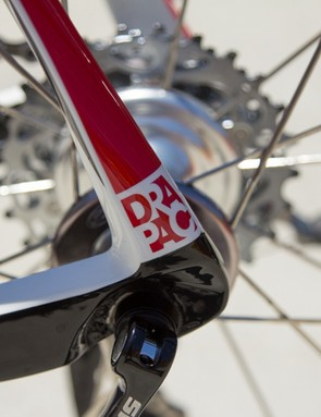 Chunky carbon dropouts give additional stiffness to the axle