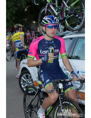 Lampre-Merida is newly sponsored by Champion Systems clothing - who launched a new 'Carbon Rear Zip Speedsuit' at TDU. Apparently two years development led to a wind-tunnel proven suit with compression qualities and great body temperature regulation
