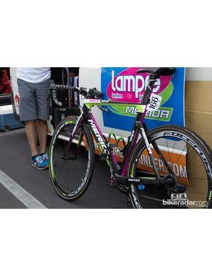 The ever-bright Merida Reacto Evo of Lampre-Merida - stage 2 saw Italian Diego Ulissi take the win