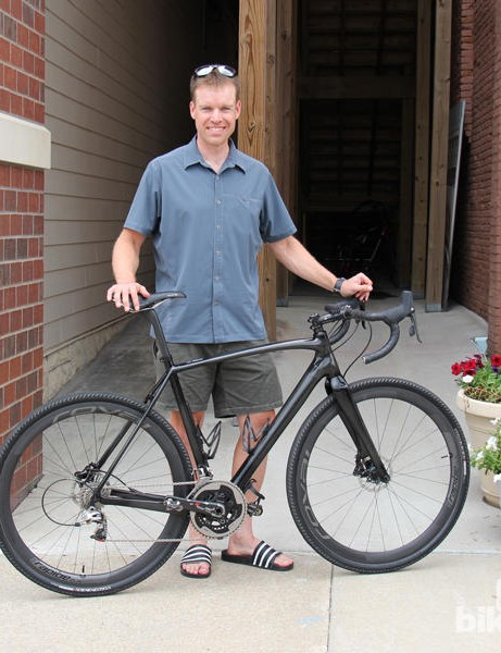 Shown here is four-time Dirty Kanza 200 winner Dan Hughes with his CruX prototype that served as the test platform for the CruX EVO concept