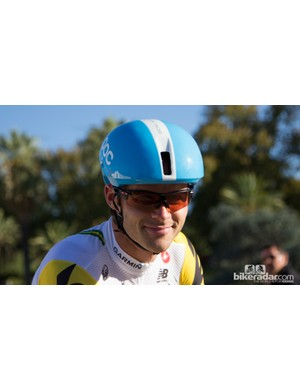 Team Garmin-Sharp recently signed with POC apparel - here Steele von Hoff shows us his Octal Aero lid