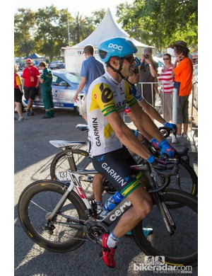 For People's Choice Criterium, Steel von Hoff was wearing his recently won Australian National Criterium Championship colours