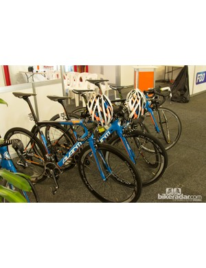 Young Caleb Ewan's team - Uni-SA - was strongly made up of riders from the Avanti Professional Cycling Team. The new Corsa SL team bike was easy to spot