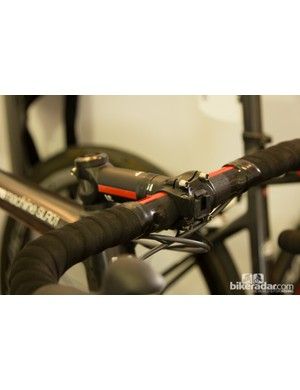 An empty SRM Power Control computer mount is a sign of riders and/or coaches downloading the data after each ride
