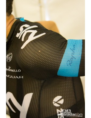 High heat had Richie Porte of Team Sky wearing the new Rapha 'don't look at my nipples' jersey