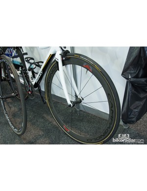 Campagnolo 80th anniversary wheels for Greipel - this is the bike he used when not contesting stage wins