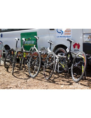 Team Europcar are lucky enough to ride the Colnago C59 with Campagnolo Super Record EPS