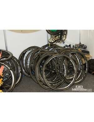 Can't find your Shimano Dura-ace C35 or C50 wheel? Orica-GreenEdge probably took it