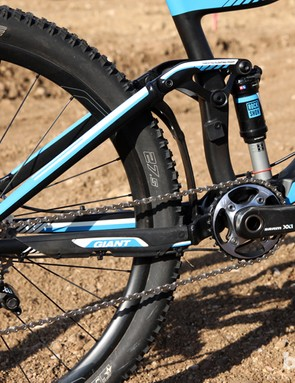 Giant says the new Trance Advanced 27.5 0's revised Maestro suspension geometry has been optimized for modern 1x drivetrains but unfortunately, we found a substantial decrease in pedaling efficiency compared to previous iterations