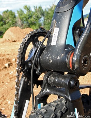 ISCG-05 tabs are built into the frame should you decide to run a chain guide