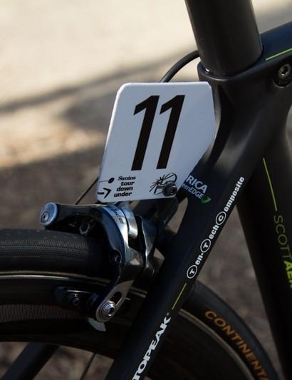 Aerodynamic profiles on the Scott Foil help when it matters most