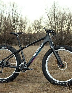 The Salsa Beargrease is one of the lightest fatbike options out there, thanks to its thoroughly modern carbon fiber frame and fork