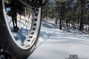 Why fat bikes, you ask? The unmatched floatation offered by the huge tires is one main reason but ultimately it's their ability to go just about anywhere and everywhere - plus there's virtually nothing else that will allow you to ride real trails in true winter conditions
