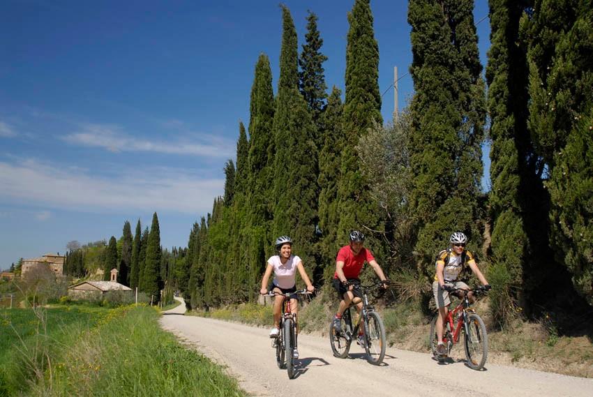 In bici per i vigneti toscani