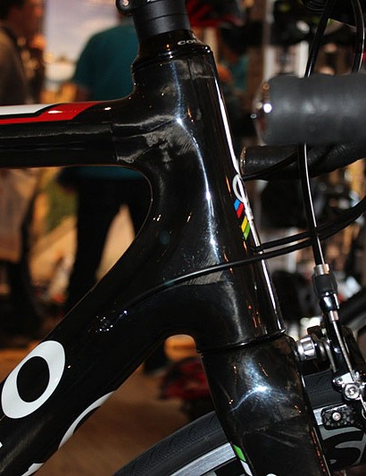 The Colnago CX Zero has a mighty long headtube which should give plenty of stability to steering