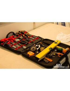 This tool bag held just the essentials - the 12in spirit level is by far the largest item