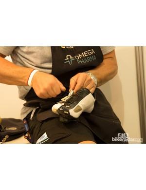 Shoe repair is another part of the mechanic's duties