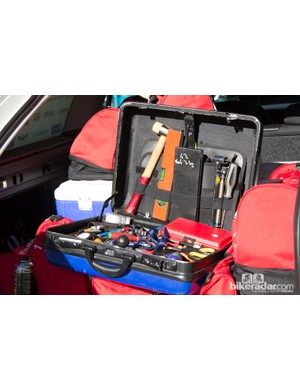 Another tool box belonging to Team BMC – this one is a little messier