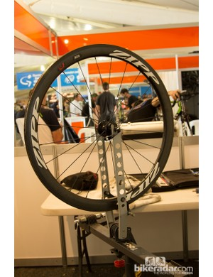A pared down wheel stand is used for applying glue to the rim. We saw this happening a fair bit as the week went on and teams ran low on spare wheels
