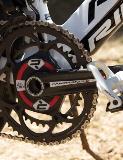 Campagnolo SRM - according to SRM, Greipel produced 1,687 watts to win the final stage. At US$3,999 for the crank, that's $2.37 per watt recorded!
